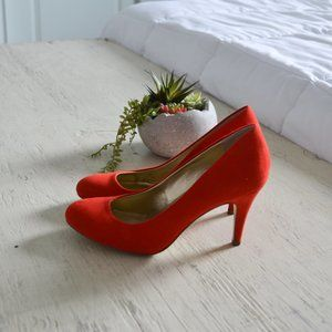 Style & Co. Red Suede Heels